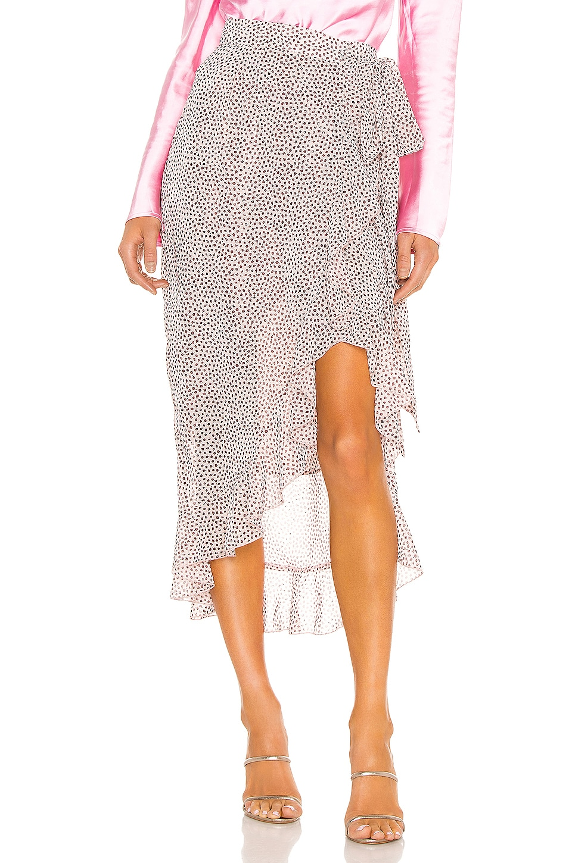 Sabina Musayev Nissa Skirt in Dotted Light Peach