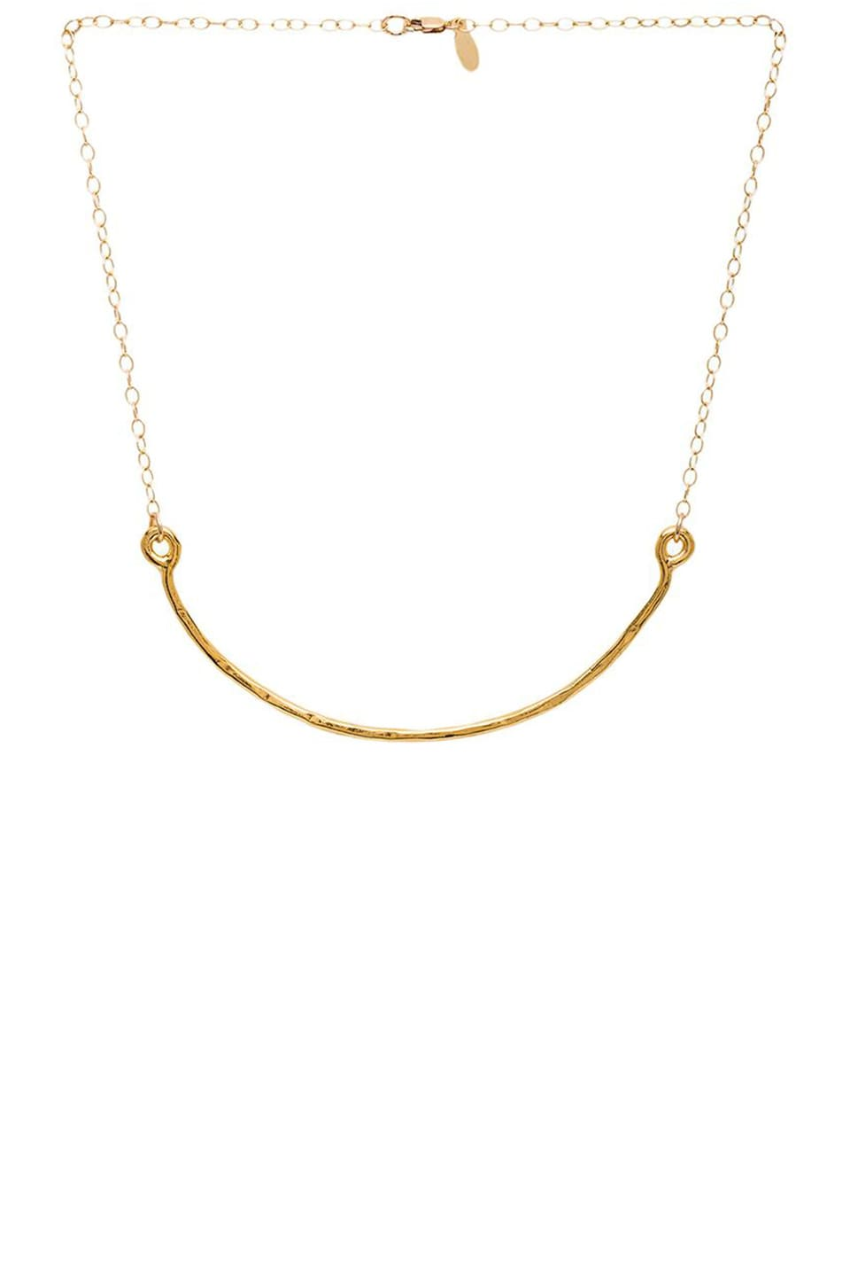 Stella and Bow Queen Maria Theresa of Spain Necklace in Gold