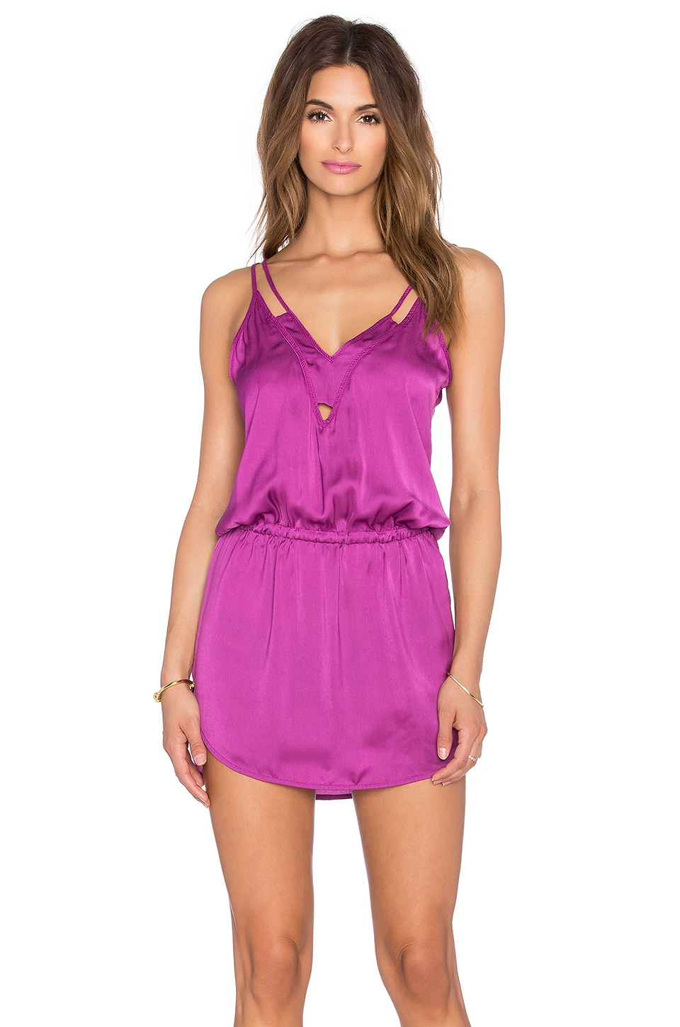 SOFIA by ViX Edgy Mini Dress in Solid Grape