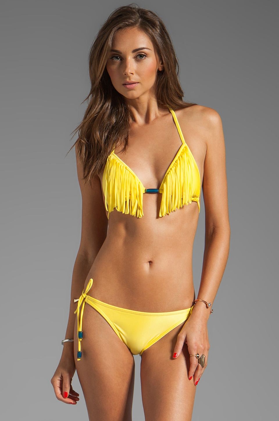 Vix Swimwear Sierra Tri Top in Yellow