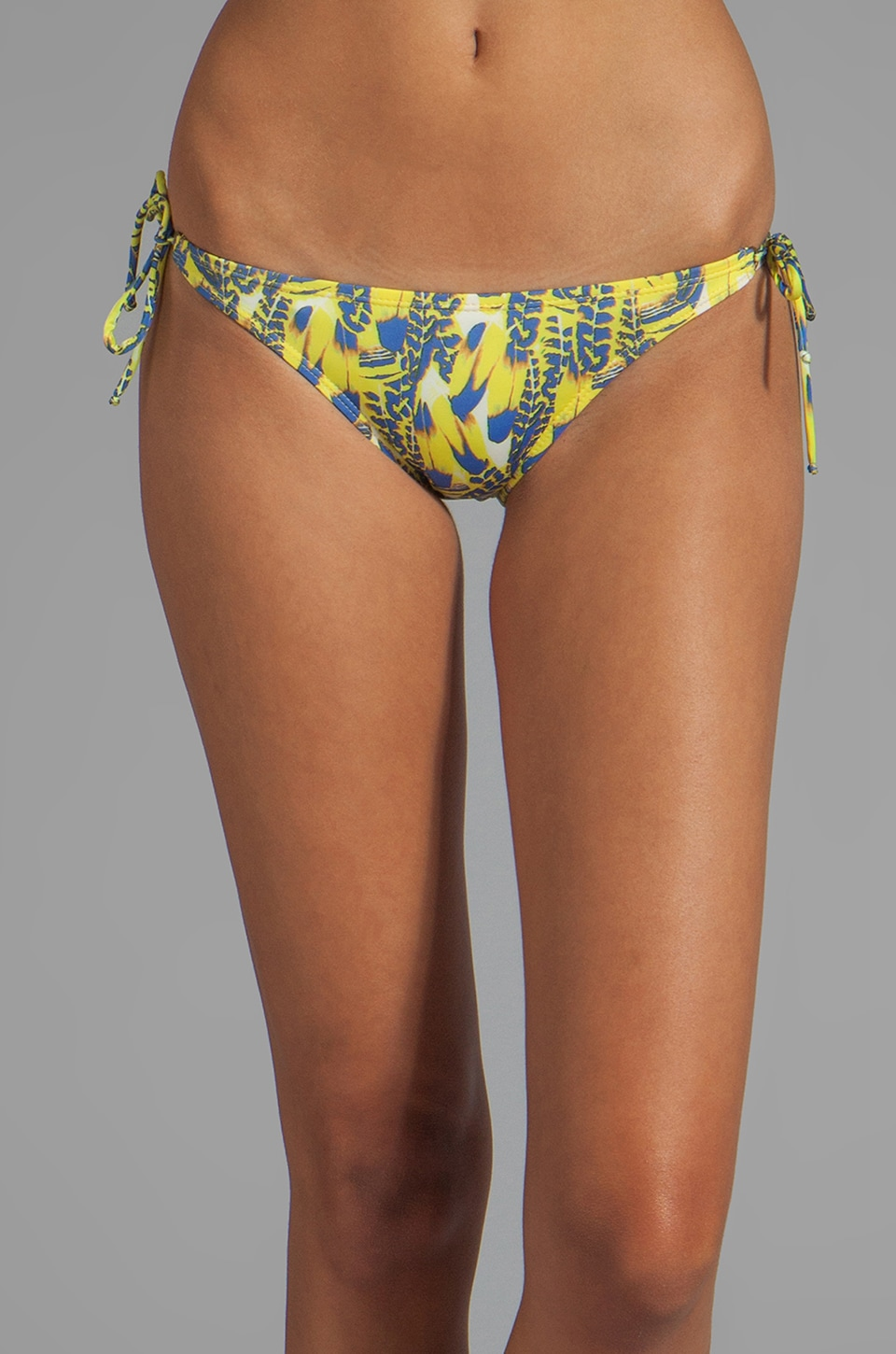 Vix Swimwear Wild Heart Long Tie Bottom in Yellow Print