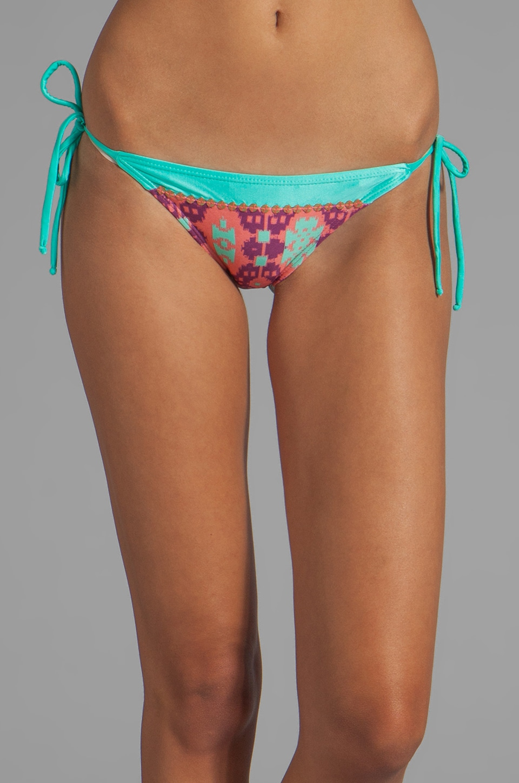Vix Swimwear Juniper Tie Embroidery Bottom in Multi Digital Print