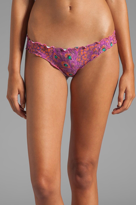 Vix Swimwear San Isidro Pink Ripple Rio Bottom in Digital Pink