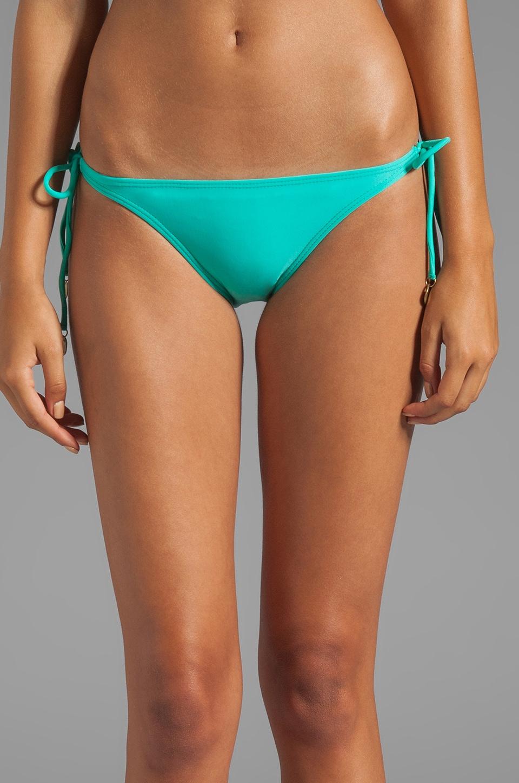 Vix Swimwear Tie Side Bottom in Solid Pisco