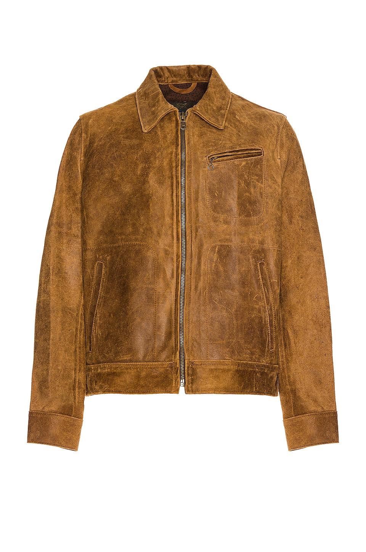 d770e4b725c Schott Duke Unlined Rough Suede Jacket in Brown | REVOLVE