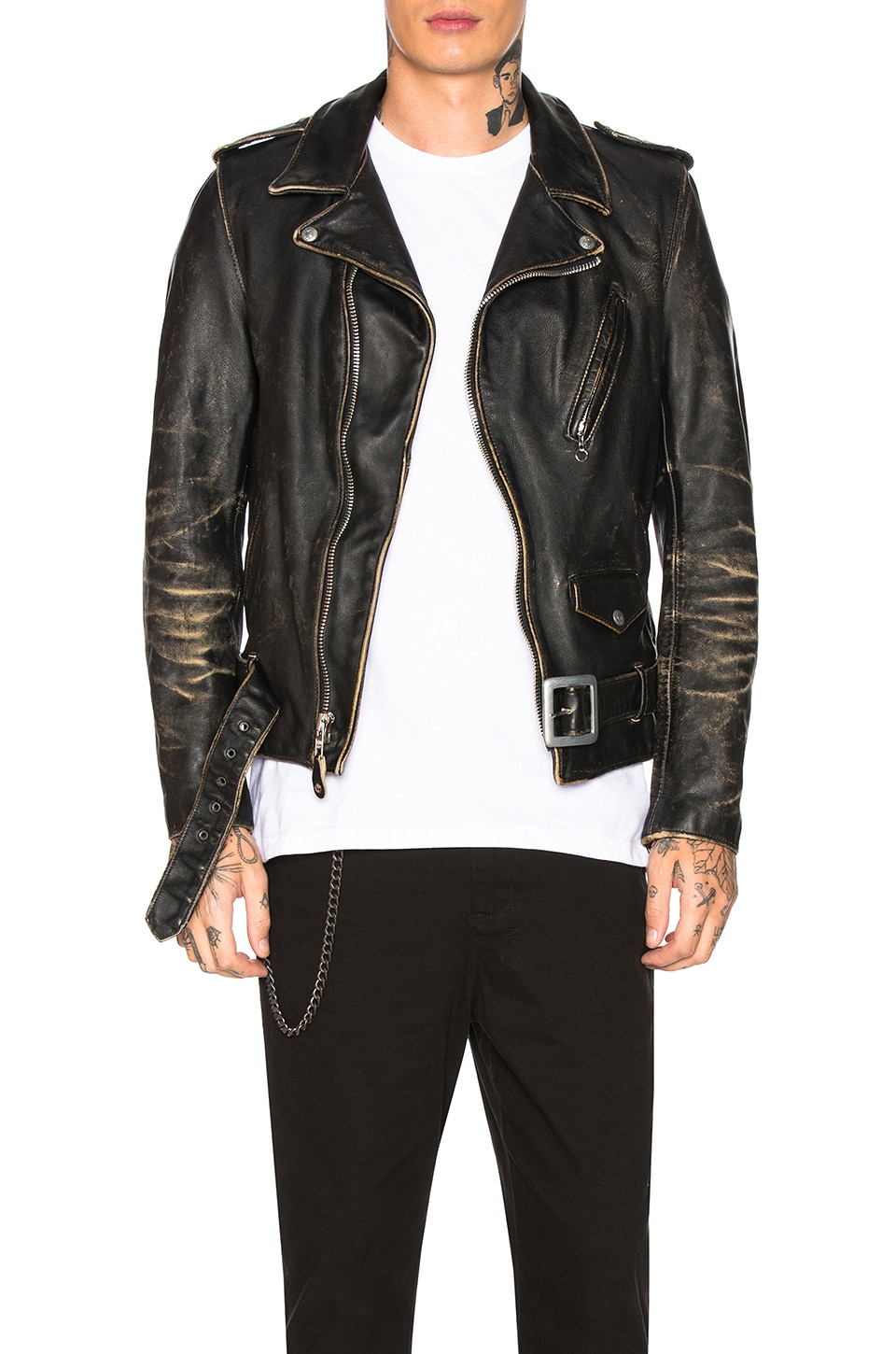 Schott Vintage Fitted Perfecto Jacket in Black