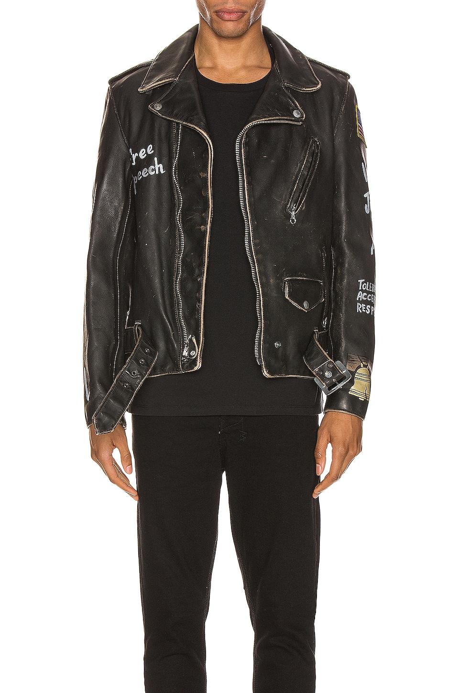 Schott PER74 Hand Painted Vintage Perfecto Jacket en Black