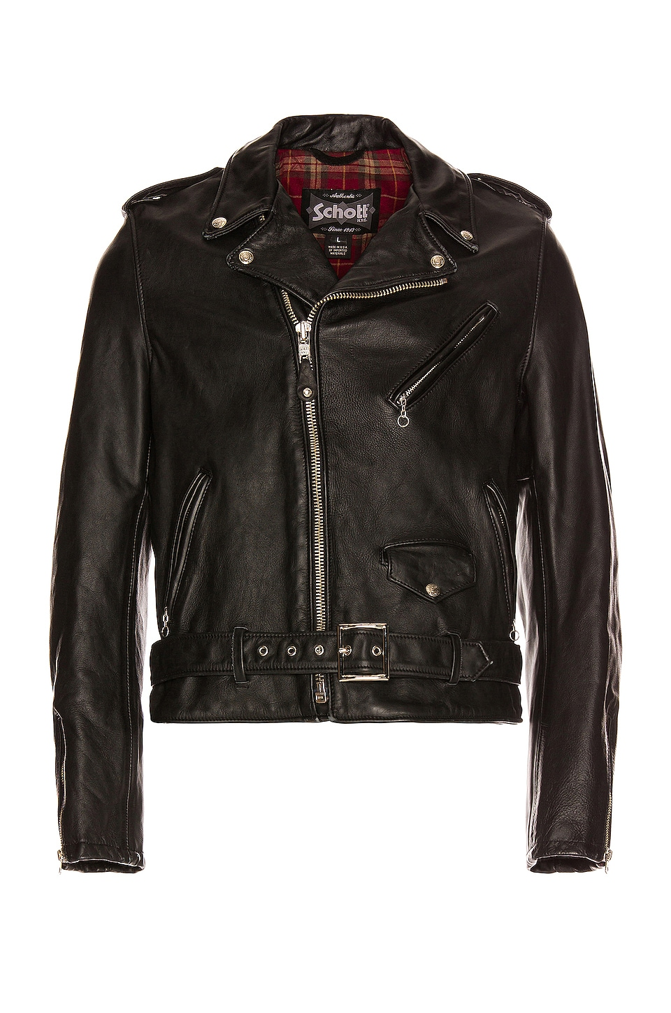 Schott Vintage Fit Moto Jacket in Black