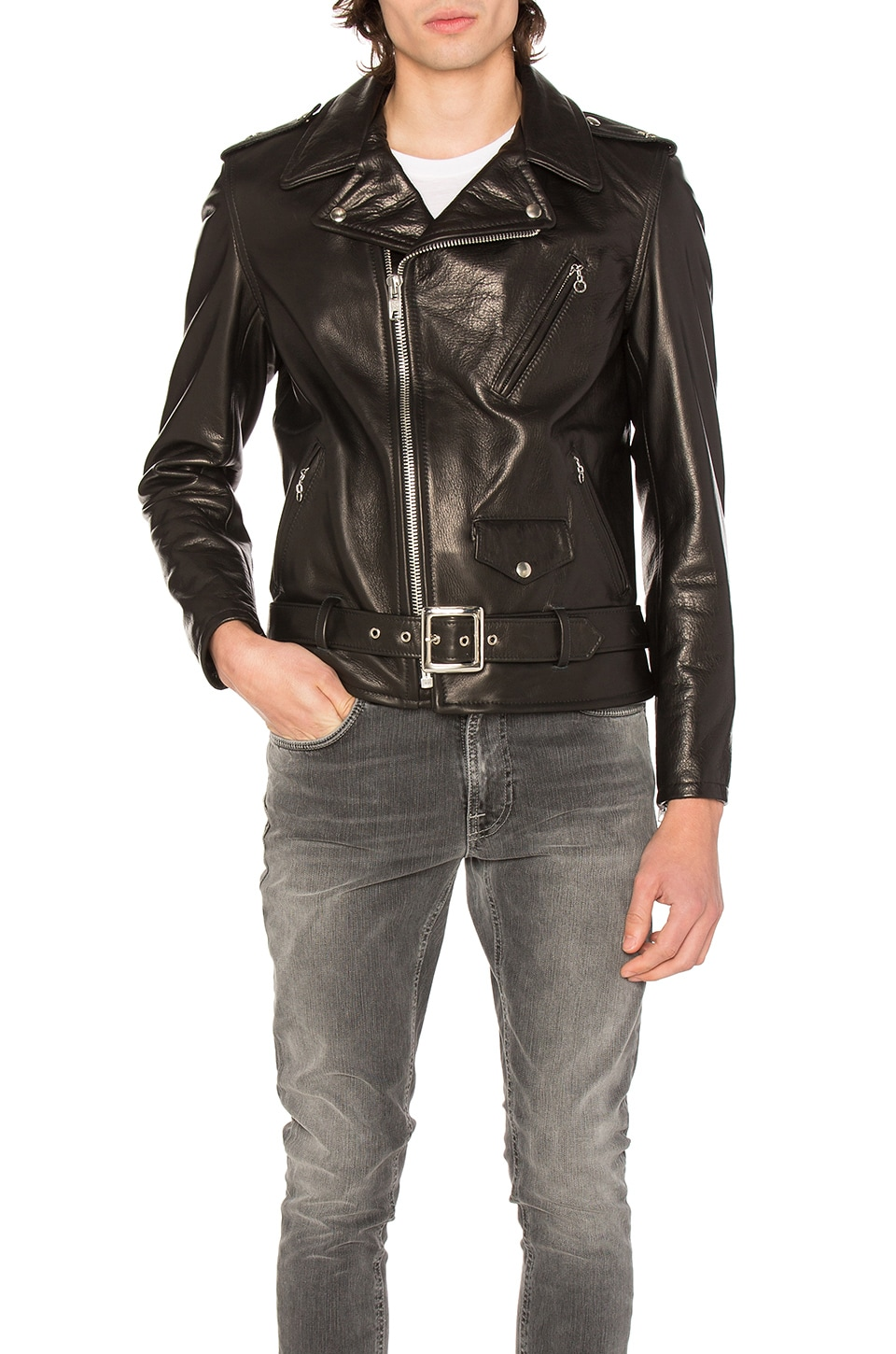 Pebbled Moto Jacket by Schott