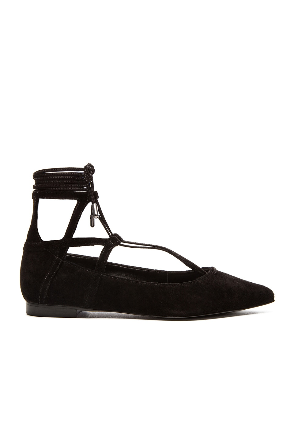 Schutz Beryl Flat in Black