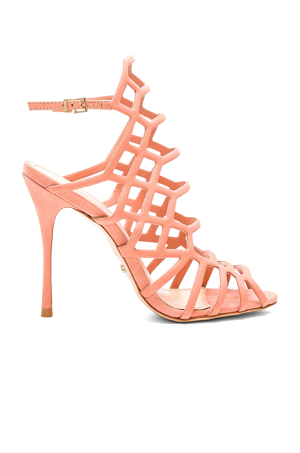 Schutz Juliana Heel in Sweet Peach