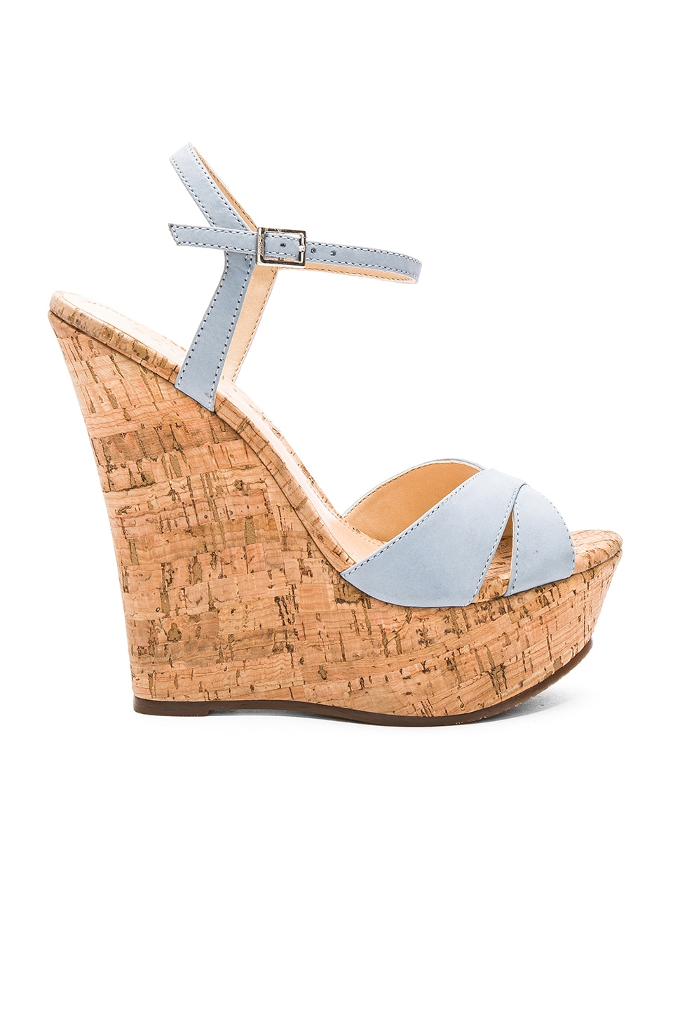 Schutz Emiliana Wedge in Jeans