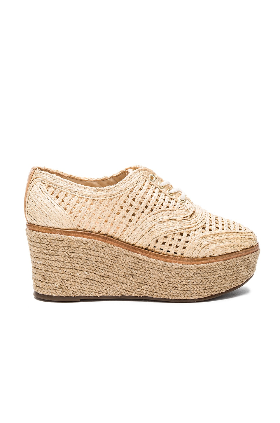 Schutz Jules Espadrille Flatform in Natural & Amber Light