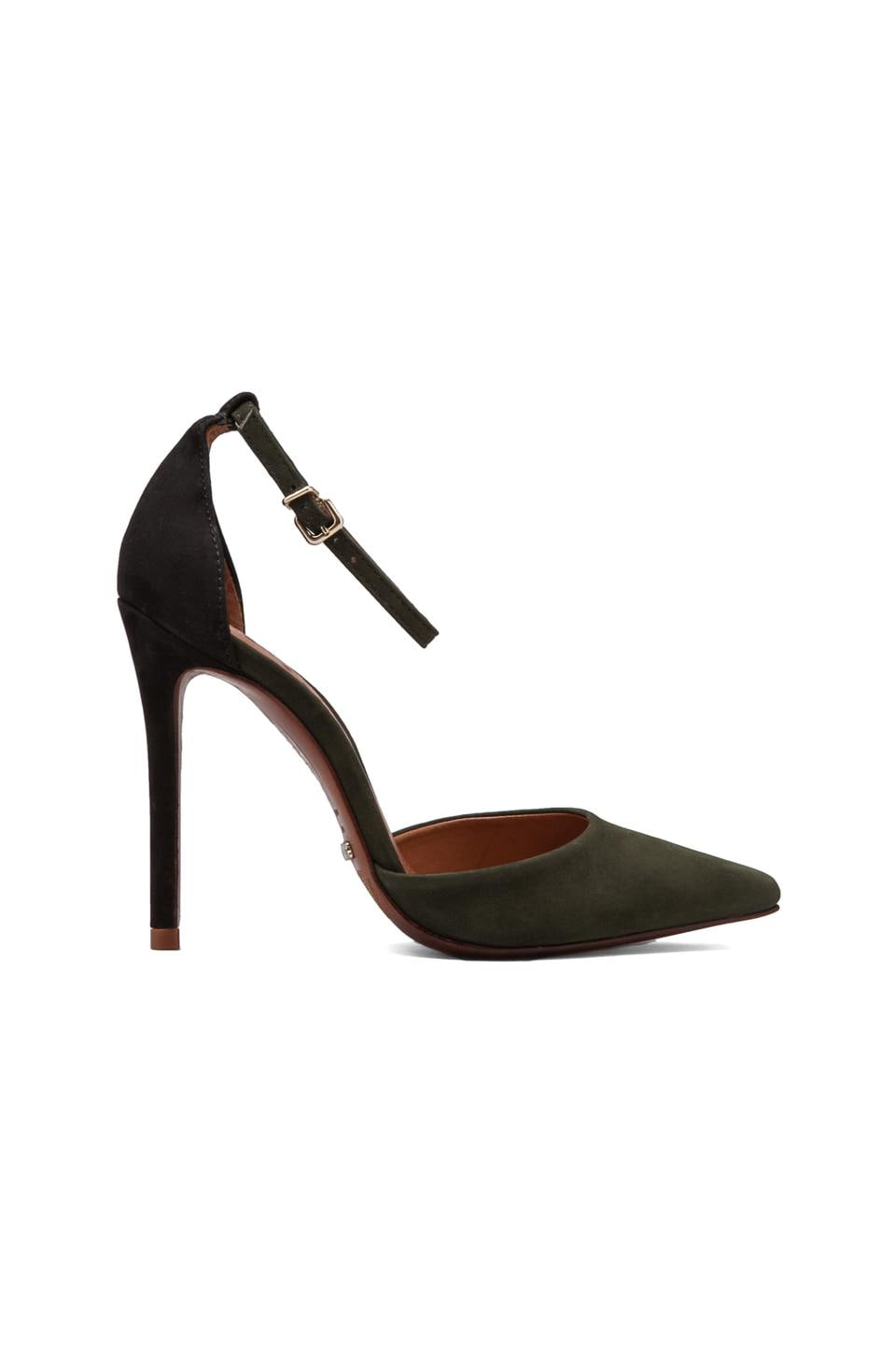 Schutz Irma Colorblock Pump in Black/Military Green