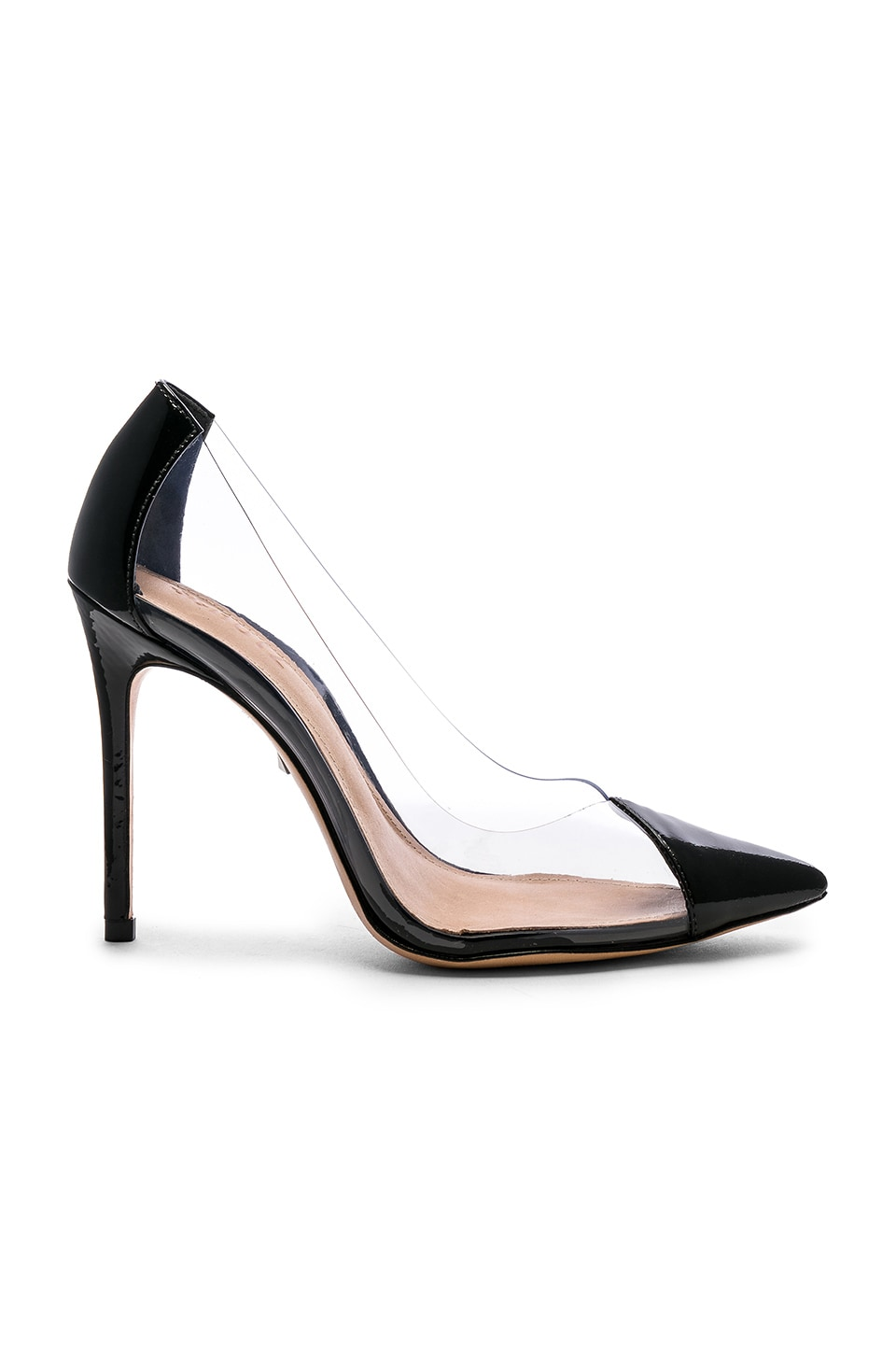 Schutz Cendi Heel in Transparente & Black