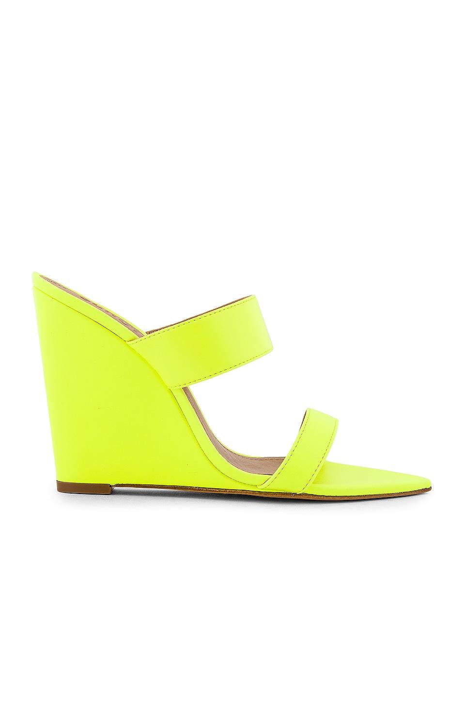 Schutz Soraya Wedge in Neon Yellow