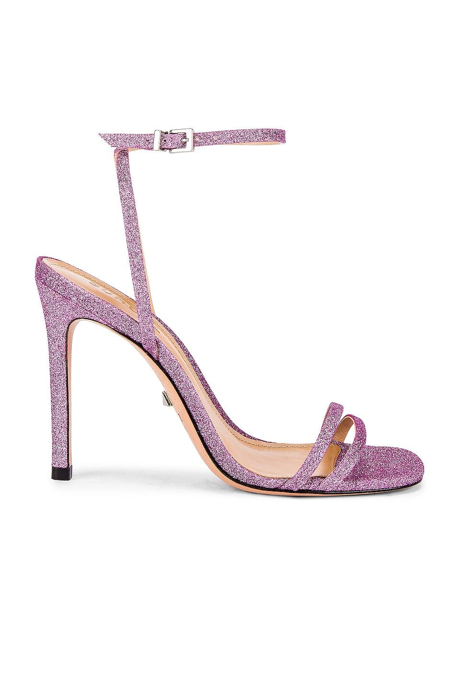 Schutz Altina Heel in Light Pink Glitter