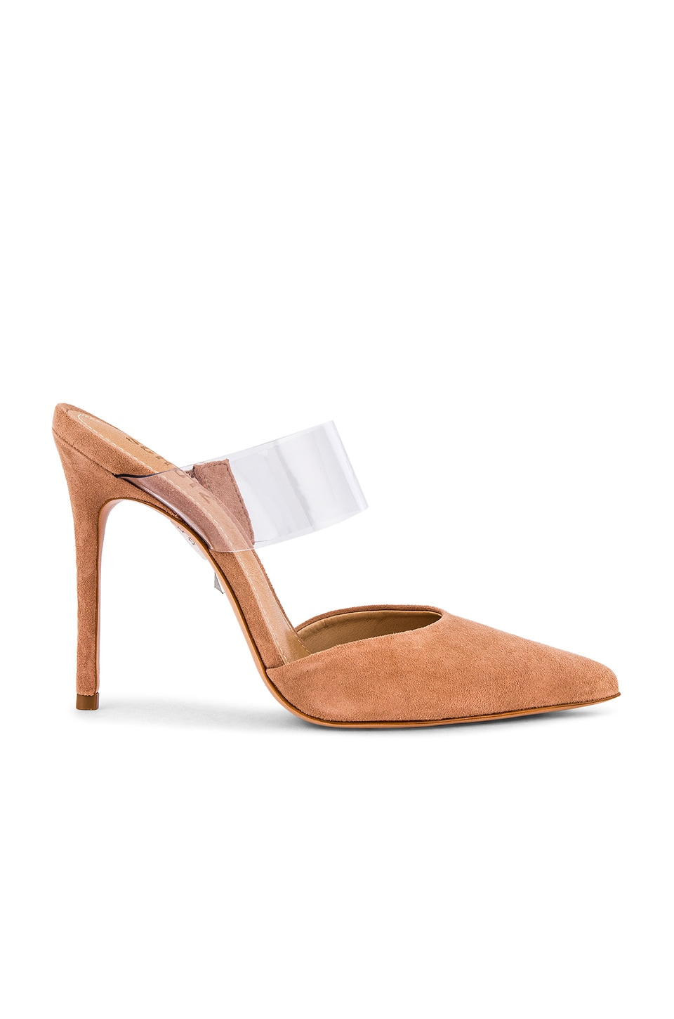 Schutz Sionne Mule in Honey Beige & Vinyl Transparente