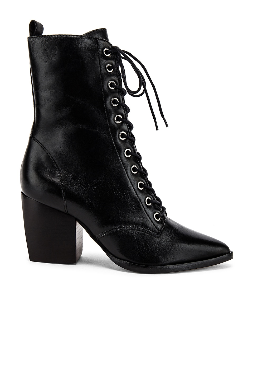 Schutz Lace Up Boot in Black