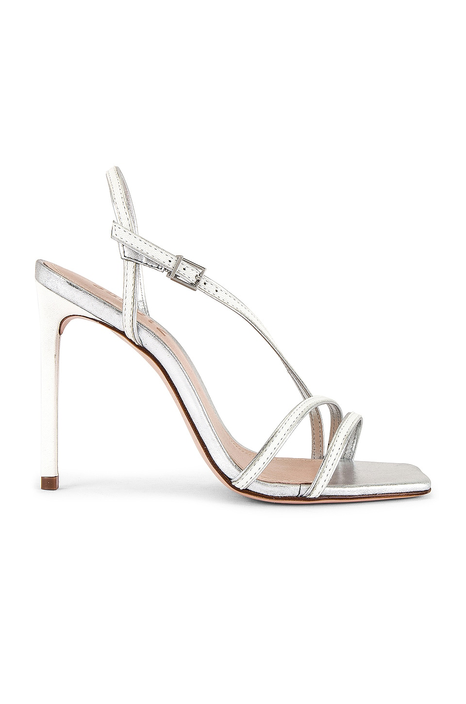 Schutz Luna Stiletto in White & Silver