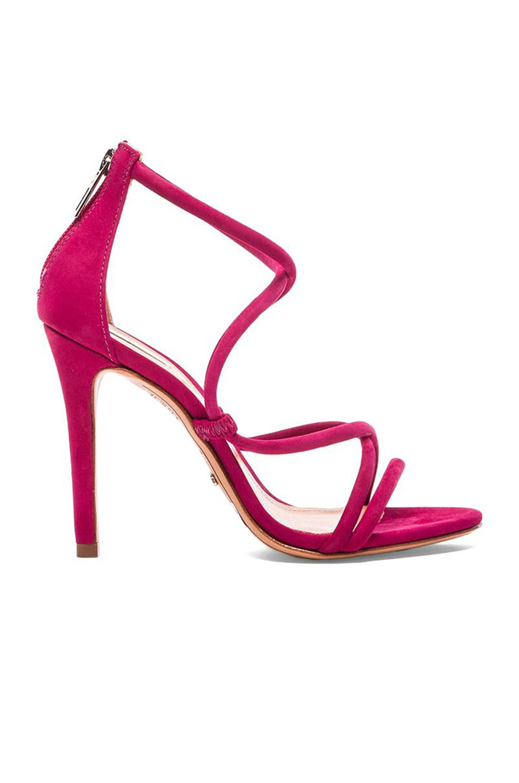 Schutz Brazilian Heel in Rose Red