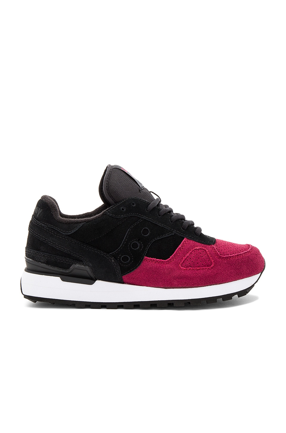 online retailer 161f0 79d4a Saucony Shadow Original Suede in Black & Red | REVOLVE