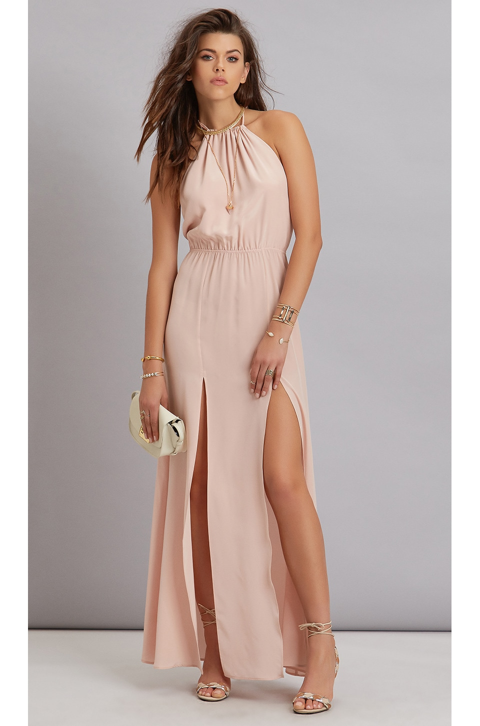 STONE_COLD_FOX Onyx Gown in Dusty Rose | REVOLVE