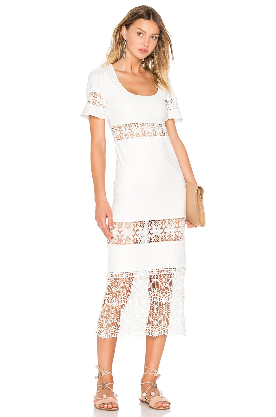 STONE_COLD_FOX Dryden Dress in White