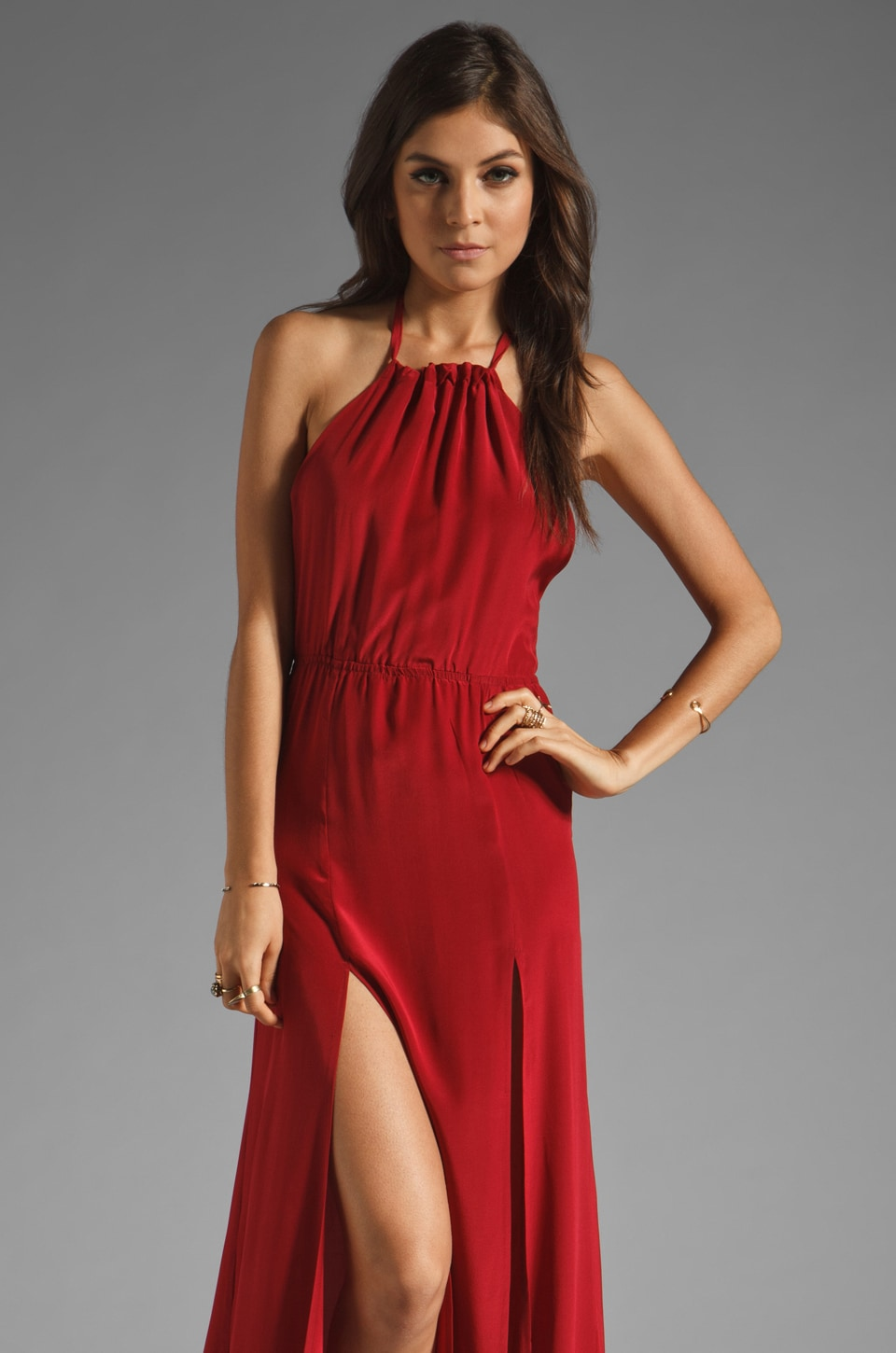 STONE_COLD_FOX Onyx Gown in Red