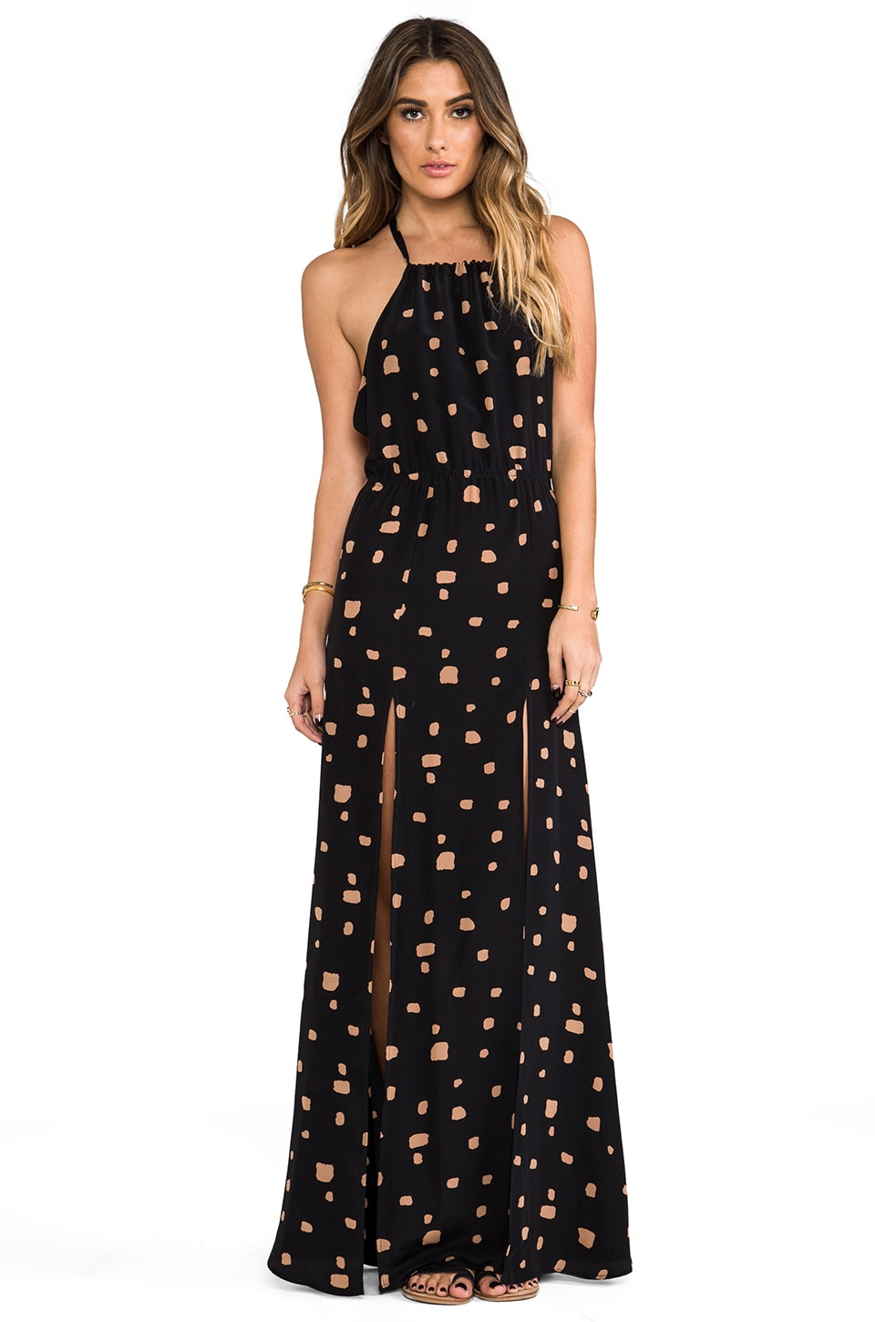 STONE_COLD_FOX Onyx Gown in Giraffe Print