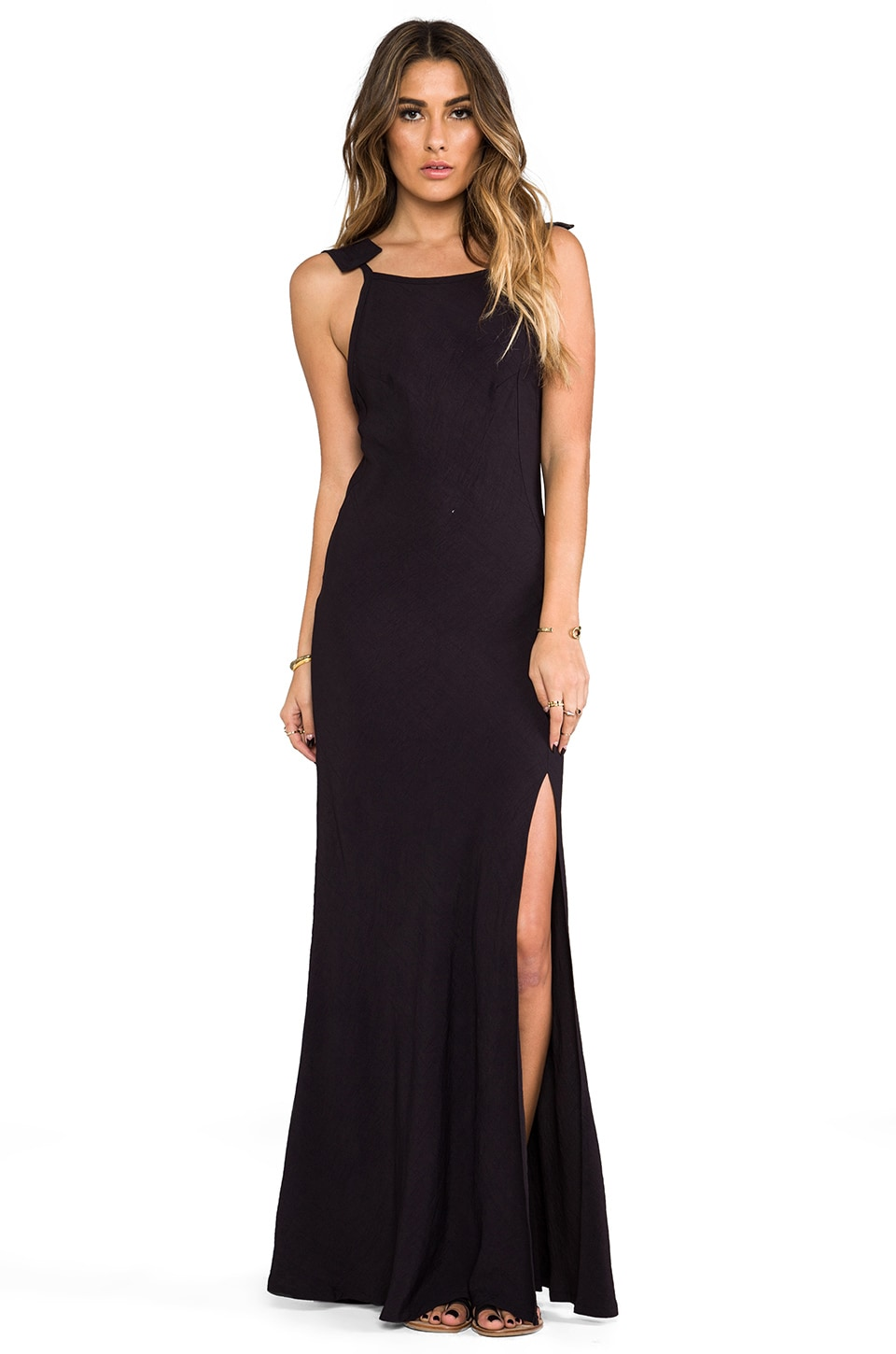 STONE_COLD_FOX Helmut Gown in Black