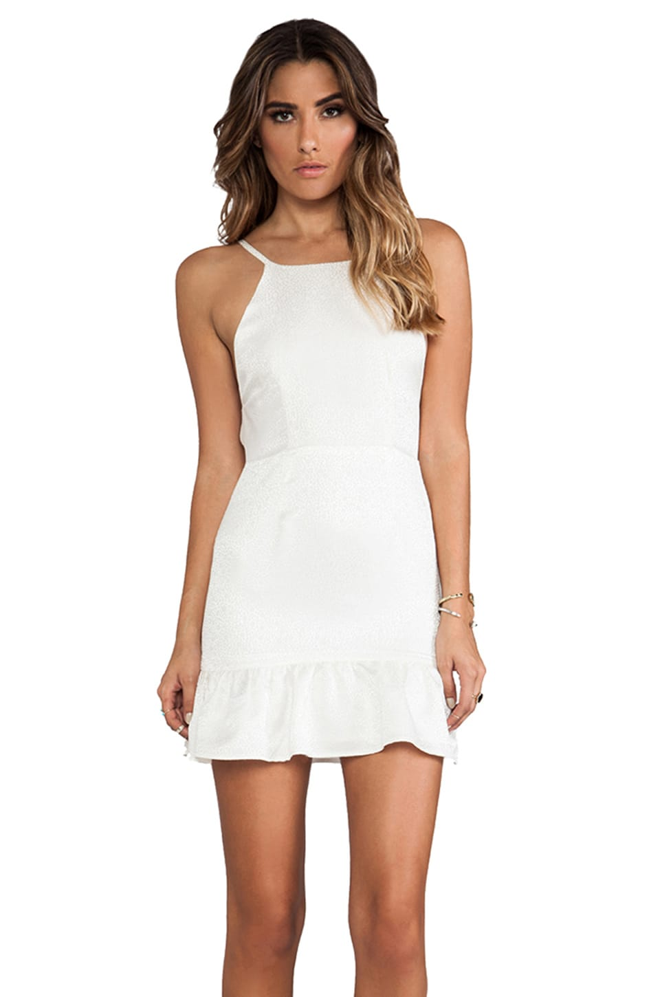 STONE_COLD_FOX Pistol Dress in White