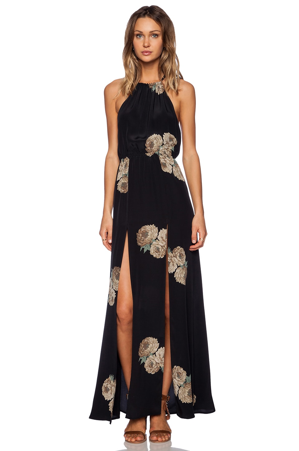 STONE_COLD_FOX x REVOLVE Onyx Gown in Dharma Print
