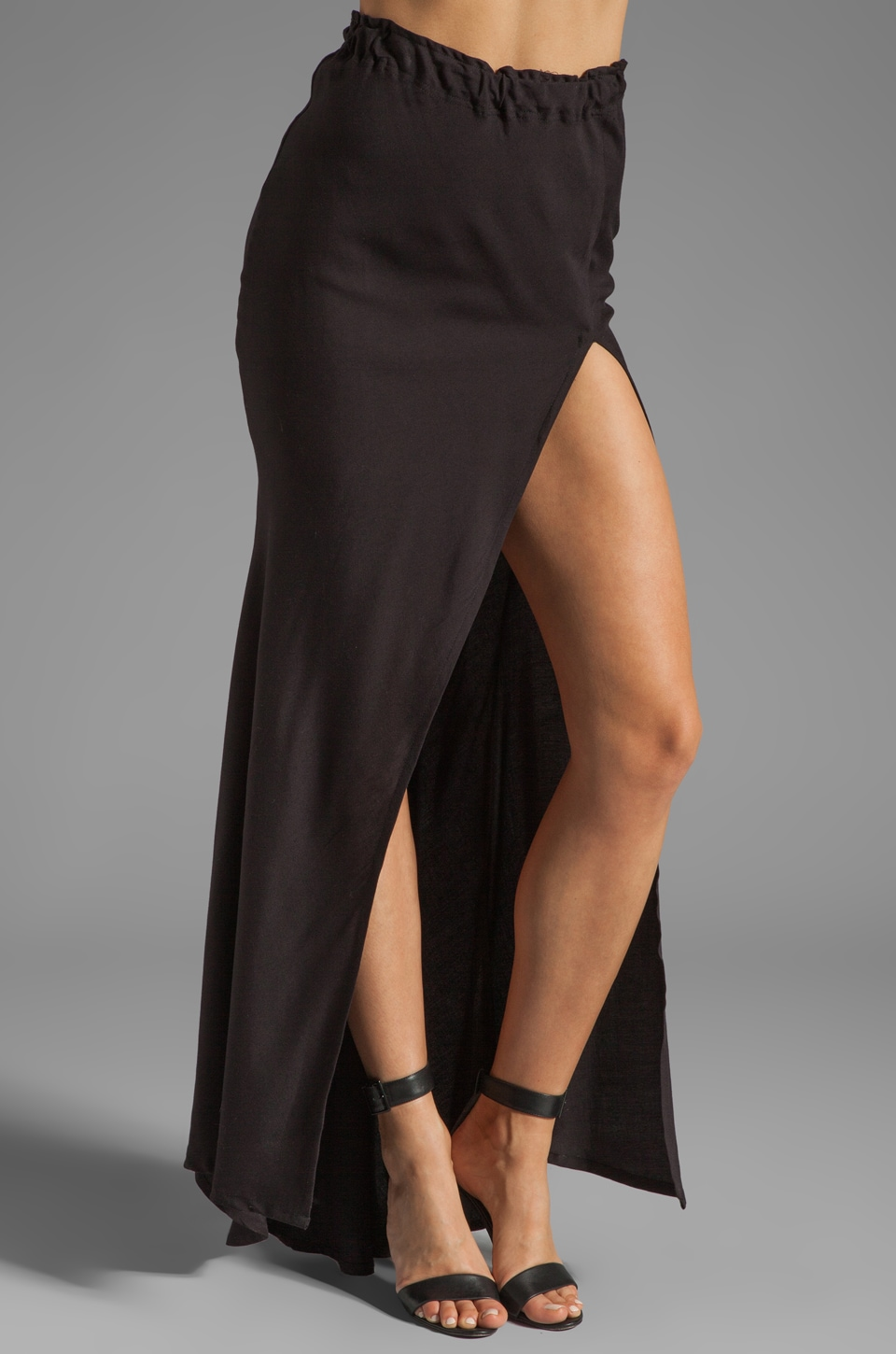 STONE_COLD_FOX Slit Skirt in Black