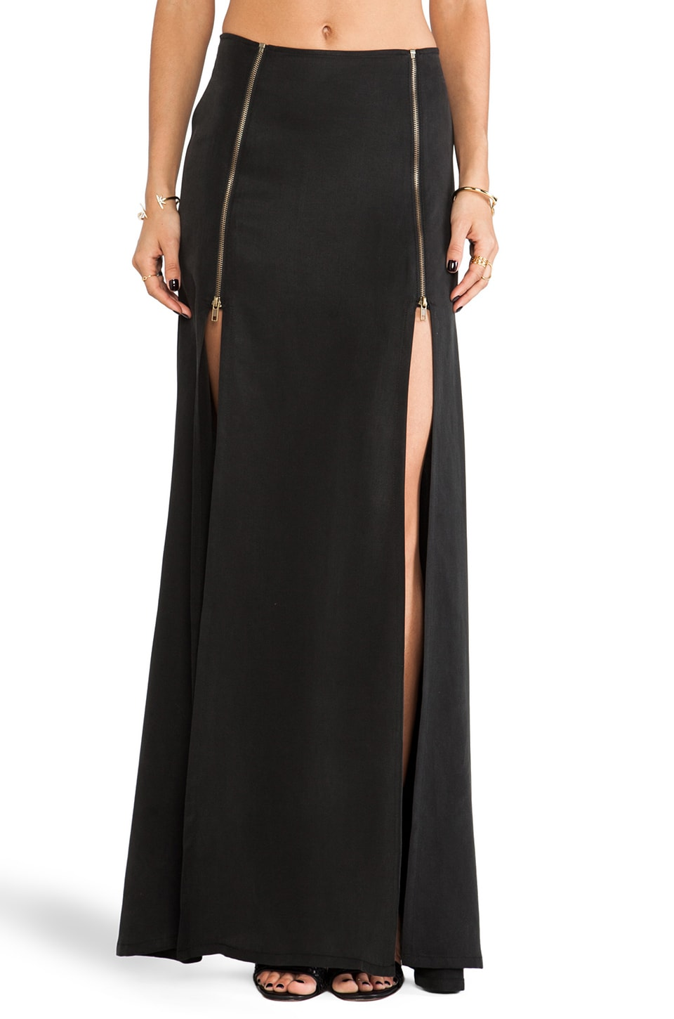 STONE_COLD_FOX Alejandro Skirt in Black