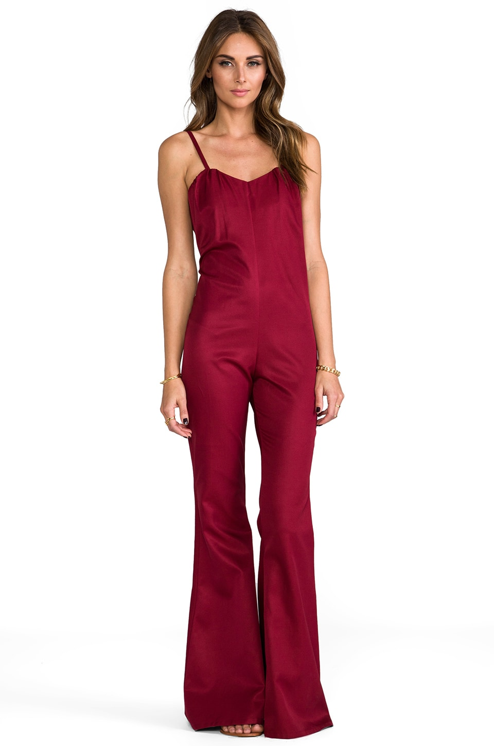 STONE_COLD_FOX Jerry Jumpsuit in Blood Red