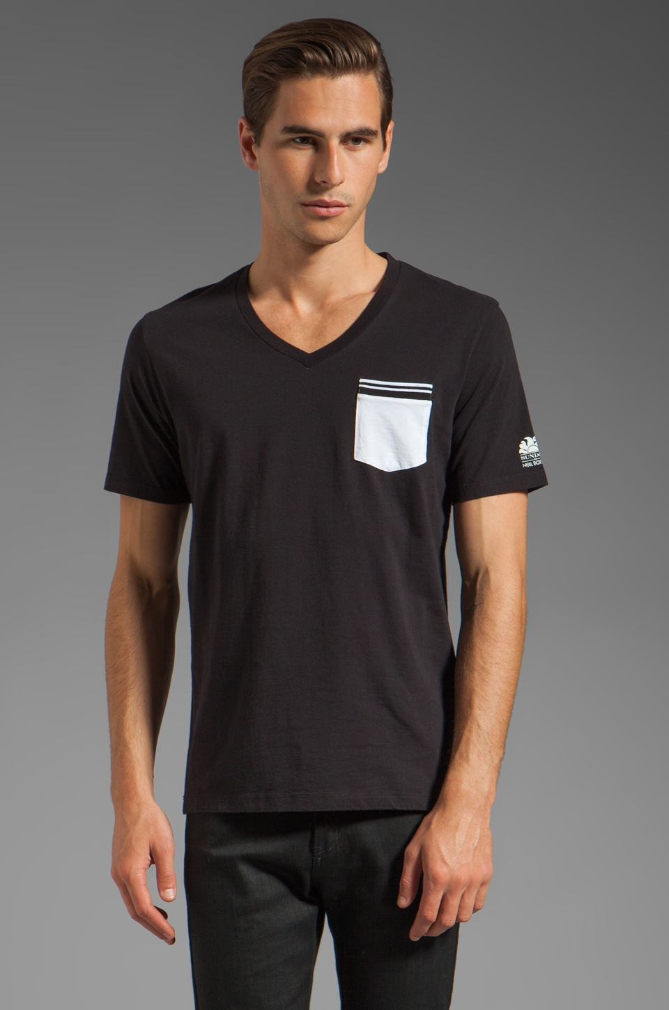 Sundek by Neil Barrett Fluo Package T-Shirt in Black