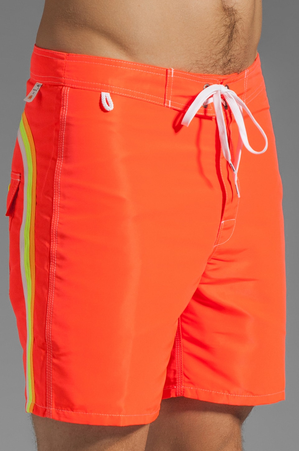"Sundek Classics 17"" Fixed Waist in Fluo Orange"