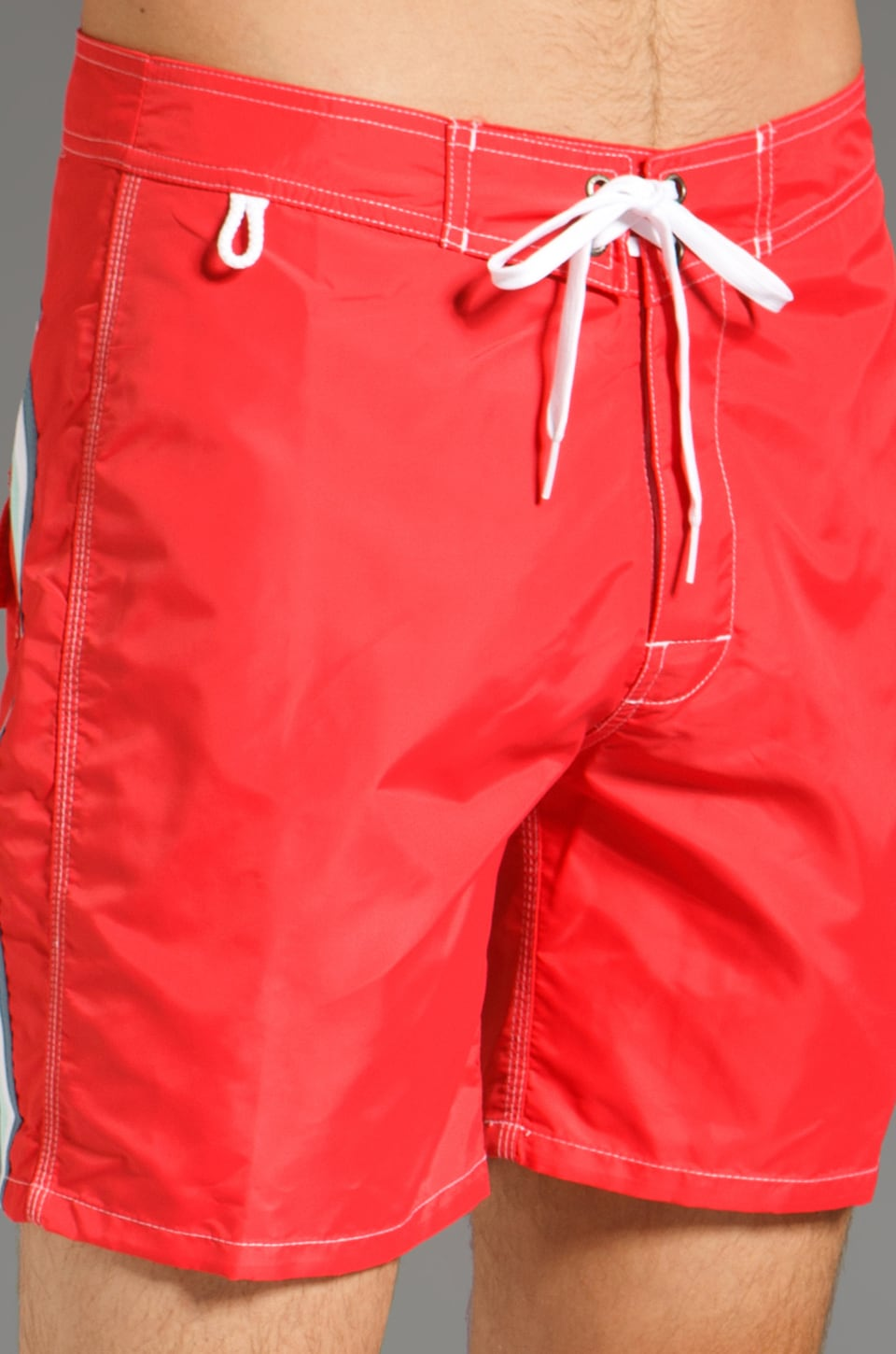 "Sundek 17"" Solid Boardshorts in Lolly Red"