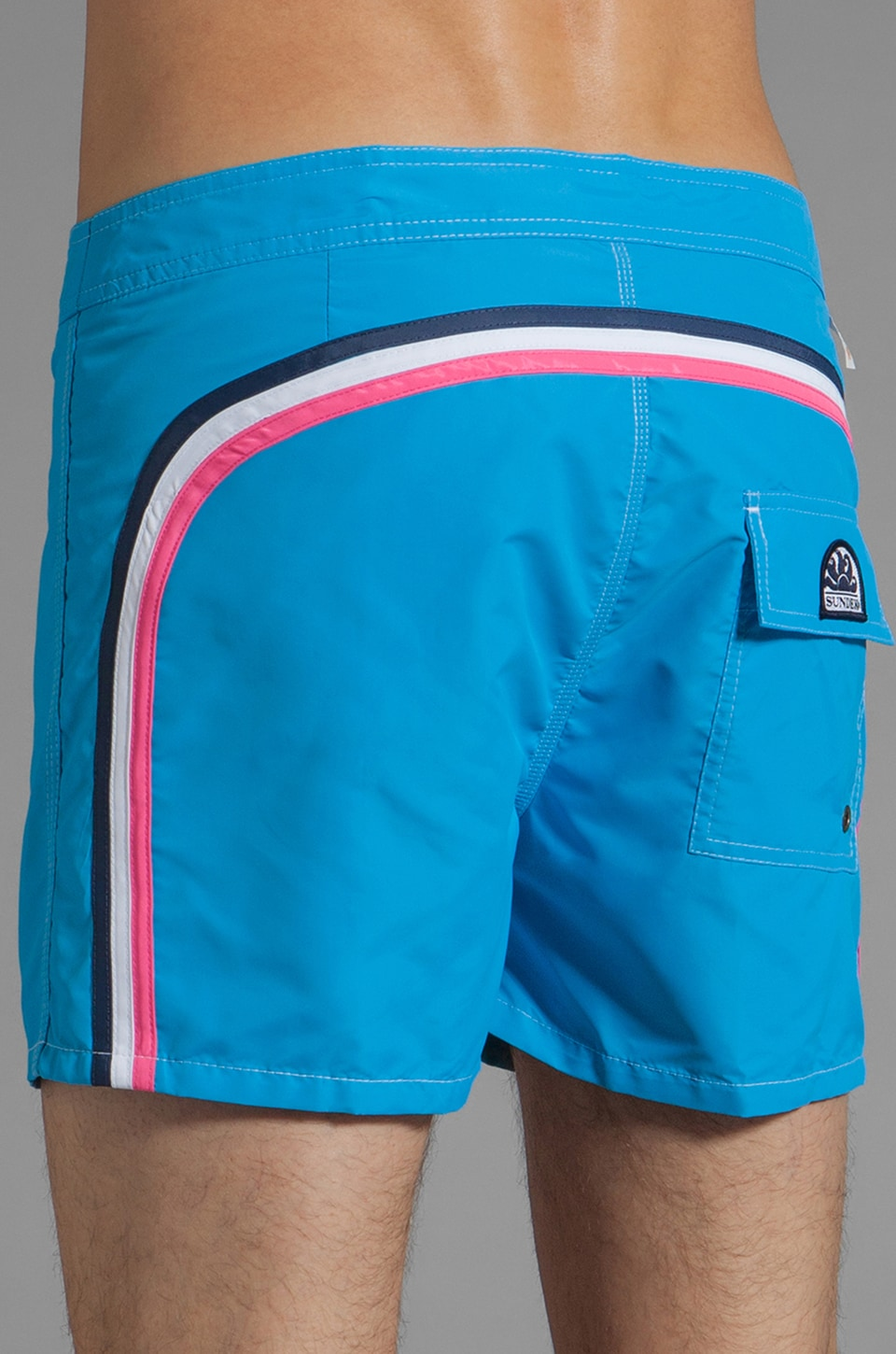 "Sundek 14"" Solid Boardshorts in Skye"