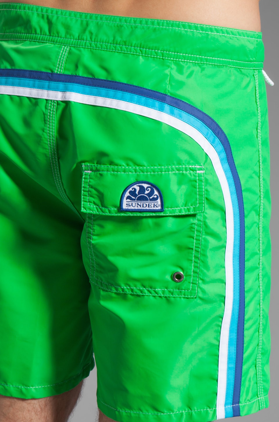 "Sundek 17"" Solid Boardshorts in Bright Green"