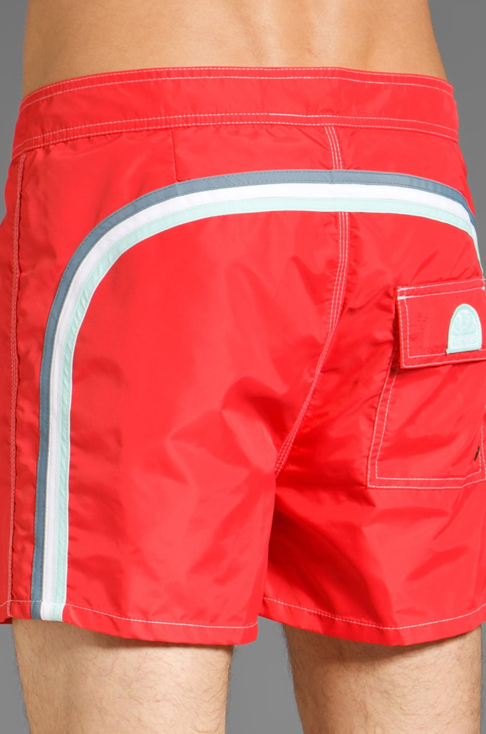 "Sundek 14"" Solid Boardshorts in Lolly Red"