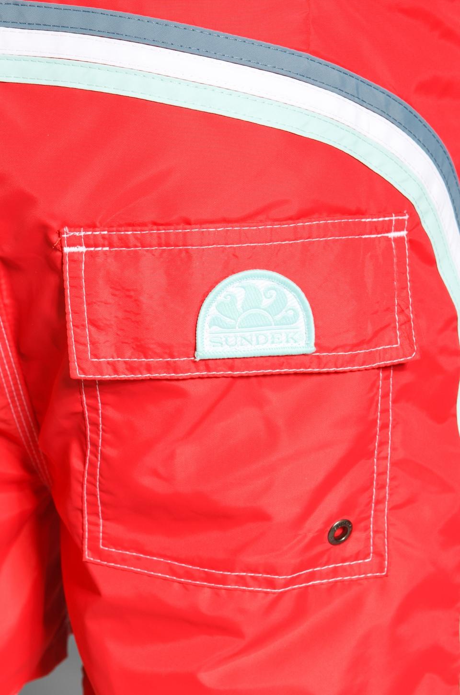 """Sundek 14"""" Solid Boardshorts in Lolly Red"""