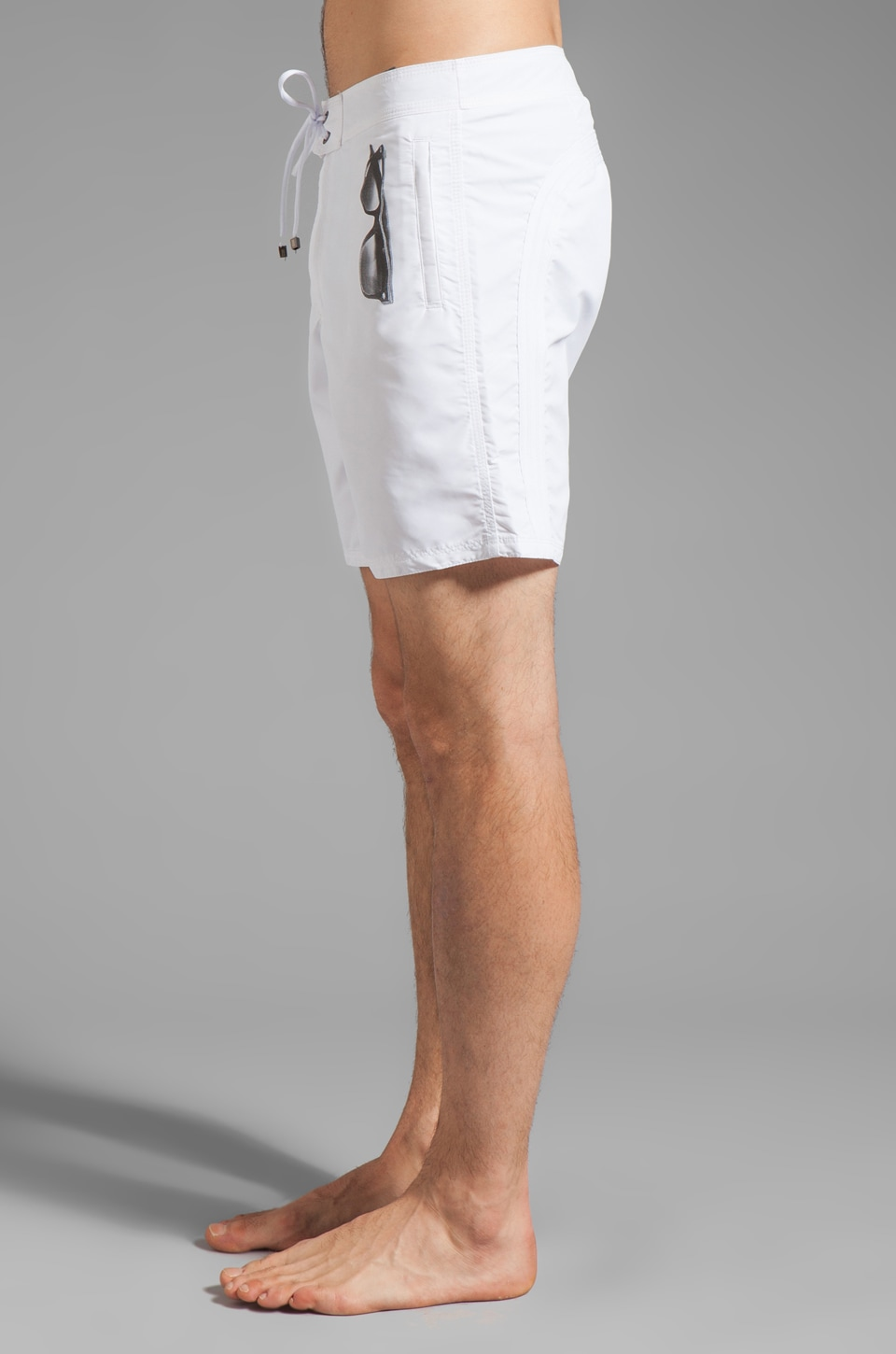 "Sundek by Neil Barrett 17"" Sunglass Boardshort in White"