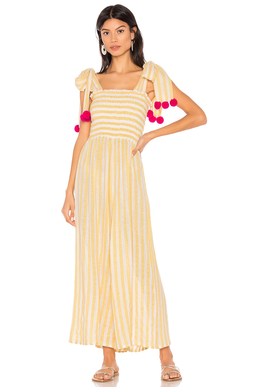 Sundress Pippa Jumpsuit in Portofino Lemon & Pink
