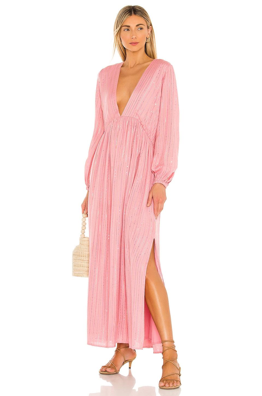 Sundress Chicago Long Dress in Roma Lipstick