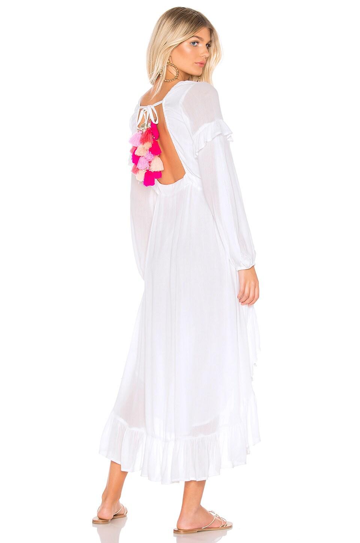Sundress Magdalena Dress in White & Multi Pink