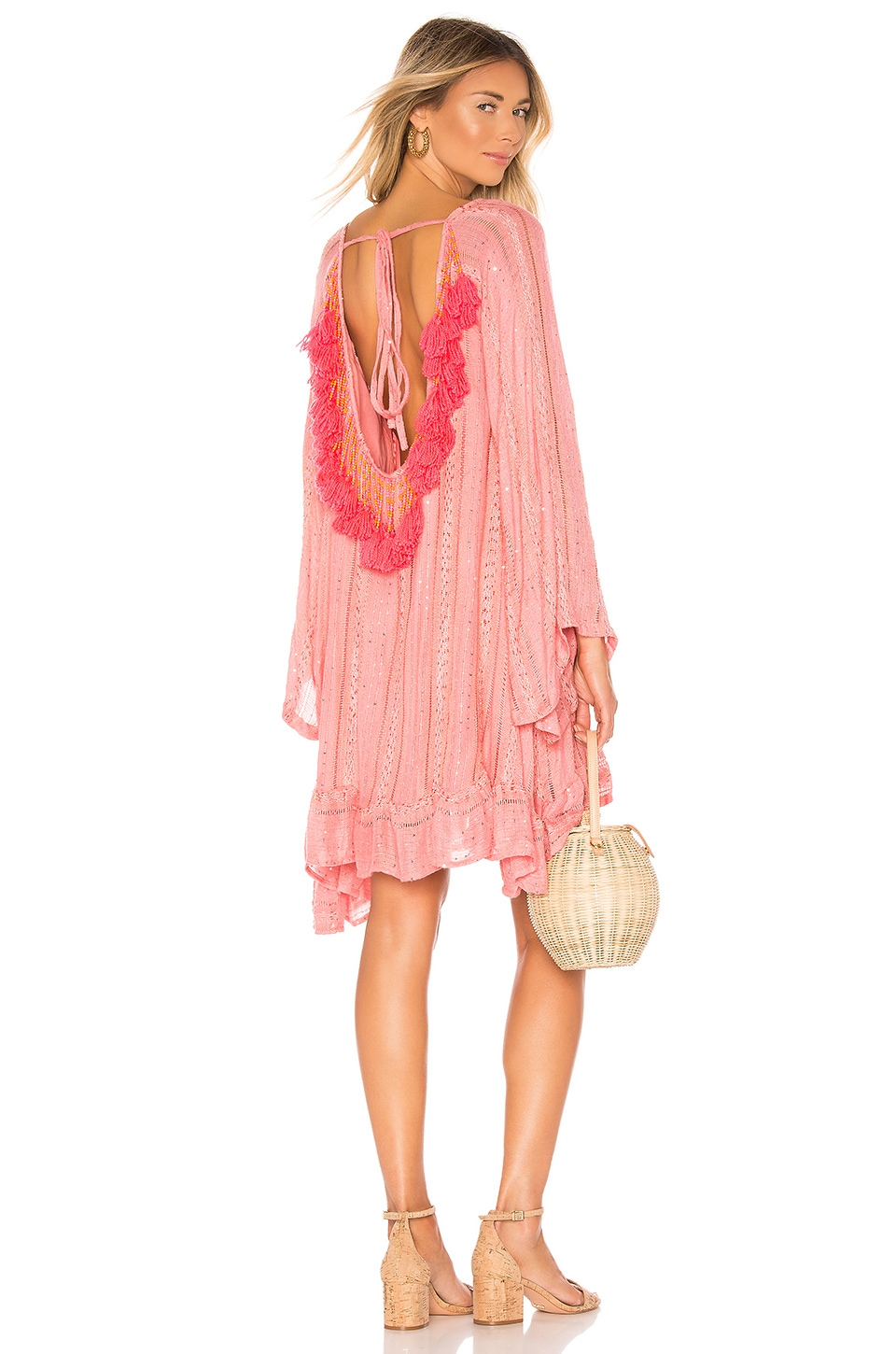 Sundress Indiana Dress in Petra French Rose & Neon Coral