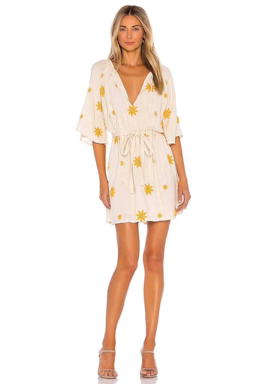 Sundress Aya Mini Dress in Natural & Yellow