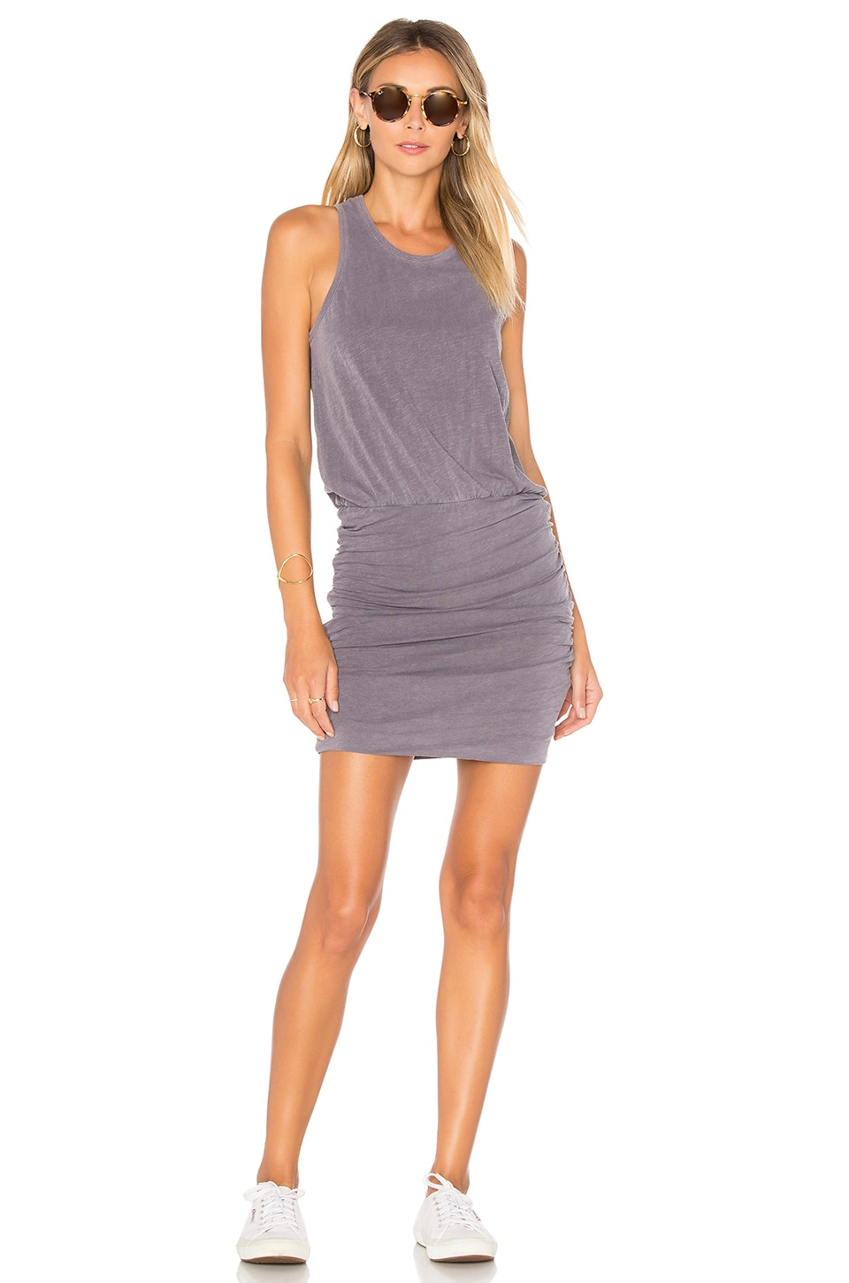 Sleeveless Slub Spandex Dress by SUNDRY